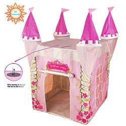 UV Protected Childrens Pop Up Play Tent Designed like a Princess Castle