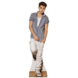 Star Cutouts Cut Out of Justin Bieber Check Shirt