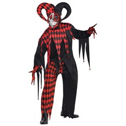 Adults Krazed Jester Costume Plus Size