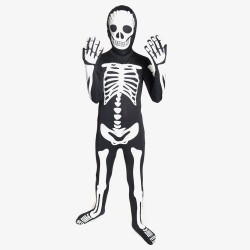 Glow Skeleton Kids Morphsuit Fancy Dress Costume