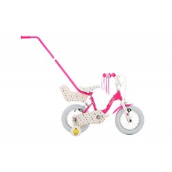 Raleigh Fairycake Girls' Kids Bike Pink, 9 inch steel frame, 1 speed puncture proof tyres front and rear caliper brakes