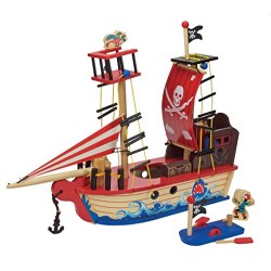 Toyland TL71007 Wooden Pirate Ship Toy