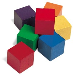 Learning Resources 1 Wooden Colour Cubes (Set of 100)