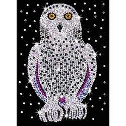 sequin art 1604 Snowy Owl Craft Set