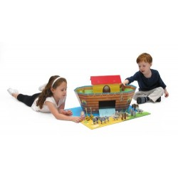 Krooom Cardboard Noah's Ark with Animals Playset