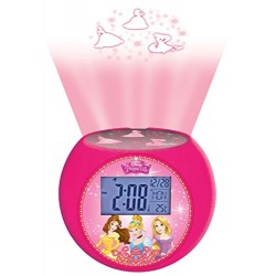 Lexibook RL975DP Disney Princess Radio Alarm Projector Clock