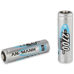 ANSMANN 2700mAh NiMH AA High Capacity Rechargeable Batteries (Pack of 4)