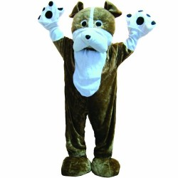 Dress Up America Deluxe Bulldog Mascot Warm Costume