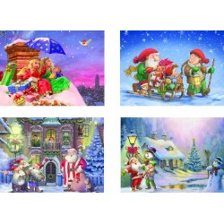 Eurographics the Christmas Collection Multipack Puzzle (4 x 500 Pieces)