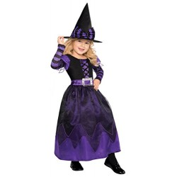 New Amscan Kids Halloween Be Witched Girls Witch Fancy Dress Party Costume