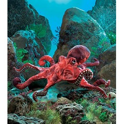 Folkmanis Octopus Hand Puppet (Red)