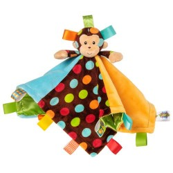Mary Meyer Taggies Character Blanket Dazzle Dots Monkey Plush Toy
