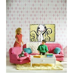 LUNDBY Smaland Living Room Playset (Pink)