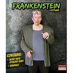 Bristol Novelty AC970 Frankenstein Costume and Headpiece, 42
