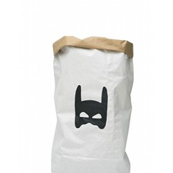 Tellkiddo Storage Bag Superhero, Paper, Black/White, 55 x 22 x 80 cm