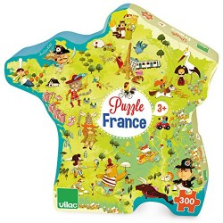 Vilac Vilac2726 50 X 55 cm Map of France Cardboard Puzzle by Olivier (300