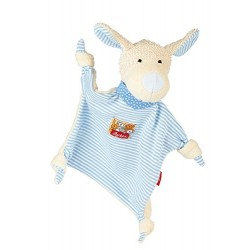 Sigikid Comforter Dog (White with Turquoise Stripes)