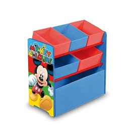 Arditex–Mickey Mouse 008330Fabric Wooden Storage Unit–6Shelves–