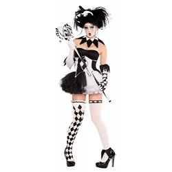 Christy's Adults Tricksterina Jester Clown Fancy Dress Costume