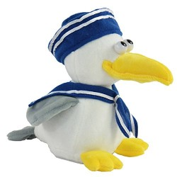 Kögler 75695 – LABER Seagull Sailor that Nachplappert All Plush Toy for Dogs