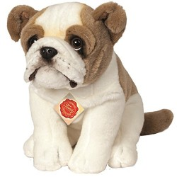 Hermann Teddy Collection 919315 27 cm English Bulldog Sitting Plush Toy