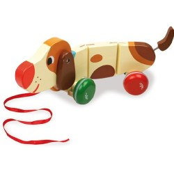 Vilac Vilac4606 Basile The Dog Pull Toy by Melusine