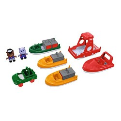 Aquaplay Boat Pack 8 pcs (6 boats + 2 puppets)