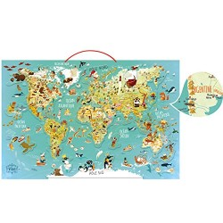 Vilac 76 x 50 x 1 cm World Map Magnetic Puzzle by Olivier (78