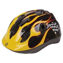 MIGHTY Kids' Junior Race S Bicycle Helmet, Black/Yellow, 52