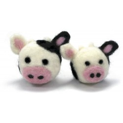 Dimensions Round and Woolly Cows Needle Felting Kit