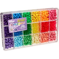Beadery Plastic Extravaganza Bead Box Kit 19.75 oz Pastel and Jelly