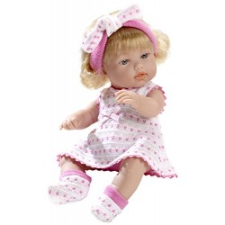 Arias 33 cm Elegance Dulcitos Baby Girl Doll in a Bag (Pink)