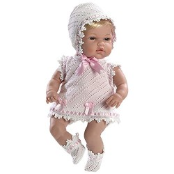 Arias 33 cm Elegance Natal Baby Girl Doll in a Bag (Pink)