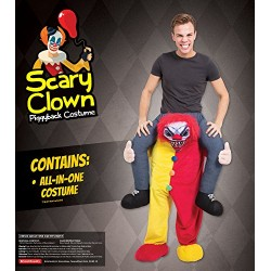 Bristol Novelty AF015 Scary Clown Piggy Back Costume, One Size