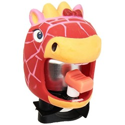 ABUS Crazy Safety Bicycle Bell Unisex Children, Crazy safety, girafe rouge/rose