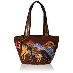 Laurel Burch Medium Tote Zipper Top 13.75 X6 X9.75