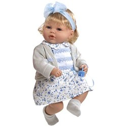 Arias 50 cm Elegance Fanny Try Me Doll with Laughter Mechanism (Blue)