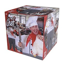 Mens Inflatable Chef Costume for TV Cartoon & Film Fancy Dress