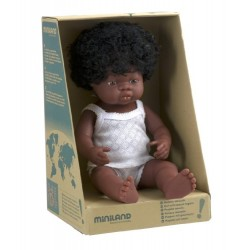 Miniland Miniland31154 38 cm African Girl Doll with Underwear in Box