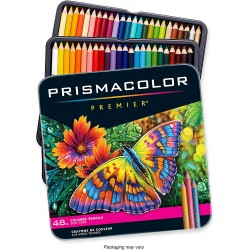 Sanford Wood Prismacolor Premier Colored Pencils 48 Pkg