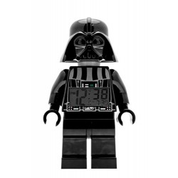 LEGO Star Wars Darth Vader Kids Minifigure Light Up Alarm Clock | black/gray | plastic | 9.5 inches tall | LCD display | boy gir