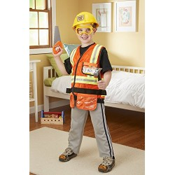 Melissa & Doug Construction Worker Role Play Costume Dress