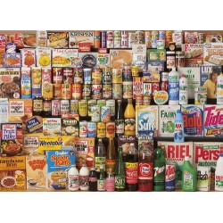 Gibsons 1980s Shopping Basket Jigsaw Puzzle, 1000 piece