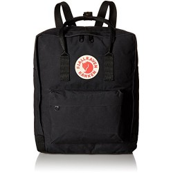 Fjällräven Waterproof Kanken Unisex Outdoor Hiking Backpack available in Black
