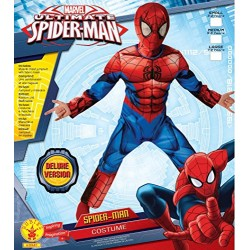 Rubie's Official Deluxe Ultimate Spiderman, Children Costume, 116 cm