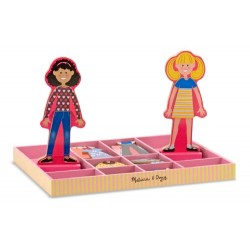 Melissa & Doug Abby and Emma Deluxe Magnetic Wooden Dress