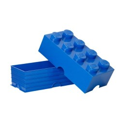 LEGO Brick 8 Knobs Stackable Storage Box, Blue, 12 Litre
