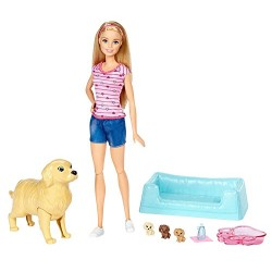 Barbie FBN17 Newborn Pups and Doll