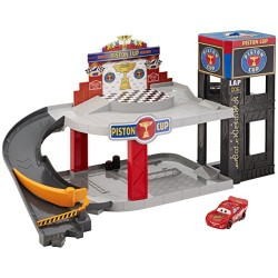 Mattel DWB90 Cars Piston Cup Racing Garage
