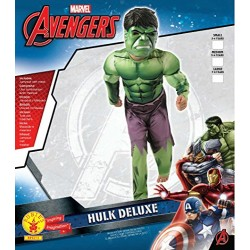 Rubie's Official Deluxe Incredible Hulk Boys Fancy Dress Kids Marvel Superhero Childrens Costume Medium Ages 5